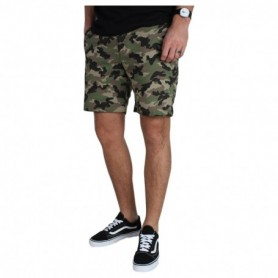 Revolution Cotton/Spandex Shorts Loose Fit With Camo Print
