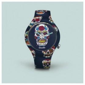 Doodle Blue Skull Doodle Watch