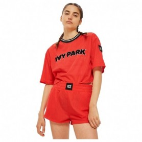 Ivy Park Ivy Park Airtex Crop Poopy Red