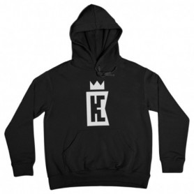 King Coast Kc Hoodie Basic Logo Black-White