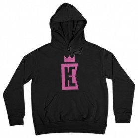 King Coast Kc Hoodie Basic Logo Black-Pink