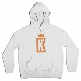King Coast Kc Hoodie Basic Logo White-Orange