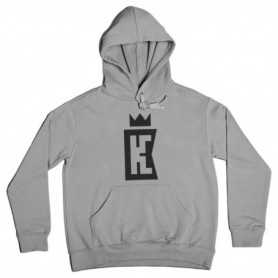 King Coast Kc Hoodie Basic Logo Grey-Black