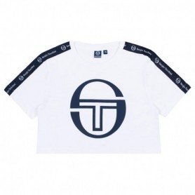 Sergio Tacchini Rominacropped Logo Tape Teepastel
